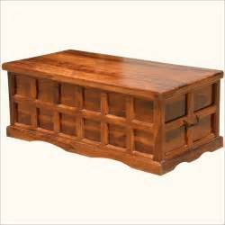 wooden chest coffee table solid wood handmade traditional