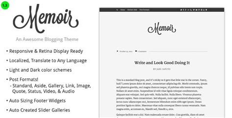 memoir template memoir a premium magazine theme free