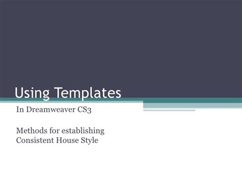 how to use templates in dreamweaver how to use a template in dreamweaver cs3