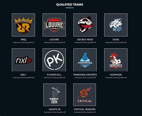 permain mobile legend lengkap sudah inilah 10 tim yang siap ikuti mobile
