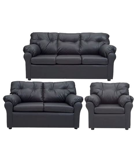 6 seater couch elzada 6 seater sofa set 3 2 1 in black buy online at