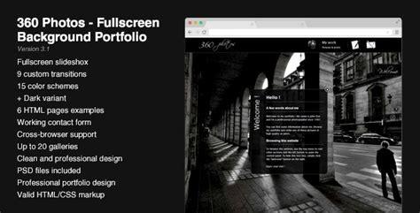 fullscreen background portfolio