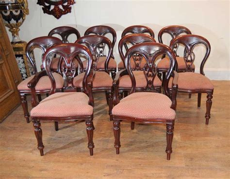 Buy Dining Chairs Uk 10 Balloon Back Dining Chairs Diners Antique Dining Chairs