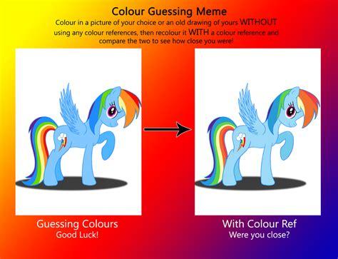 colors meme colour guessing meme rainbow dash by deannaphantom13 on