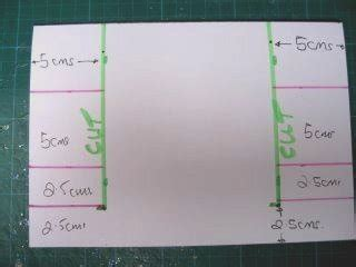 Centre Stepper Card Template A4 by Side Step Card