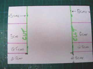 centre stepper card template a4 side step card
