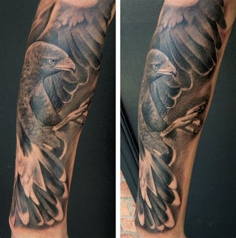 eagle tattoo billings mt hours realistic black and white detailed eagle tattoo on arm
