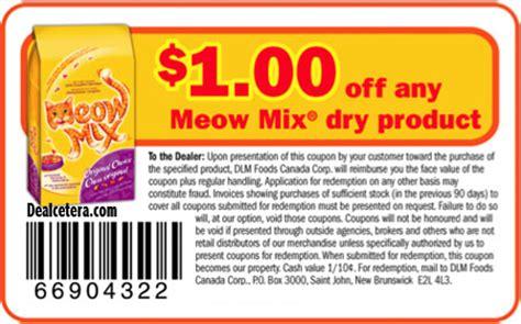 Meow Mix Coupon Printable meow mix coupons free printable codes