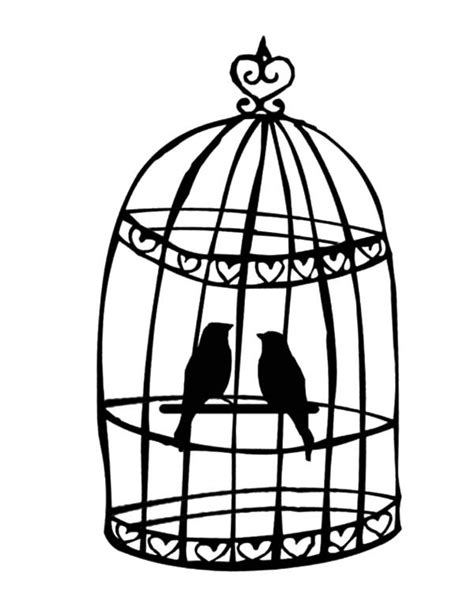 coloring pages of bird cages free coloring pages of bird cage