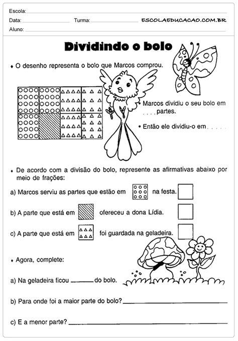 Atividades de Matemática 5 º ano - Divisão - Escola Educação