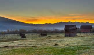 Sunrise in transylvania romania