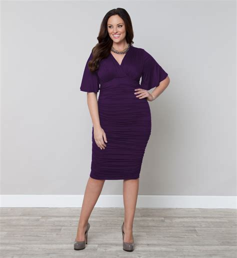 Fall Trend Alert Belted Purple Dresses by Plus Size Trend Alert The Color Purple Stylish
