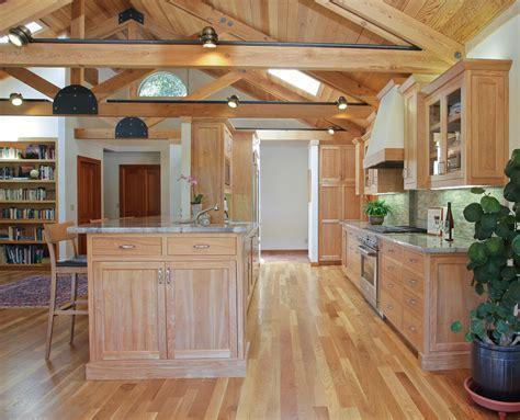 light oak kitchen cabinets Kitchen Beach with bar stools