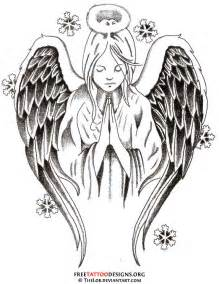 praying angel tattoo design with baby real photo