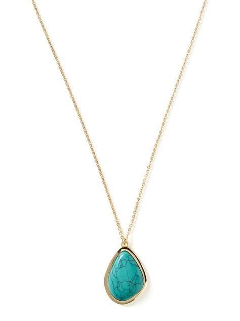 Turquoise Pendant Necklace banana republic zuma pendant necklace turquoise