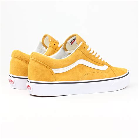 vans shoes skool spruce yellow white