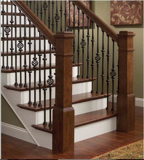 Iron Balusters Stair Parts Hammered Stair Iron Balusters Style
