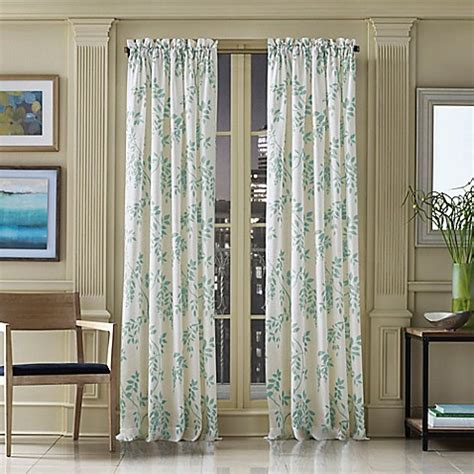 new york print curtains j queen new york winslow botanical print window curtain