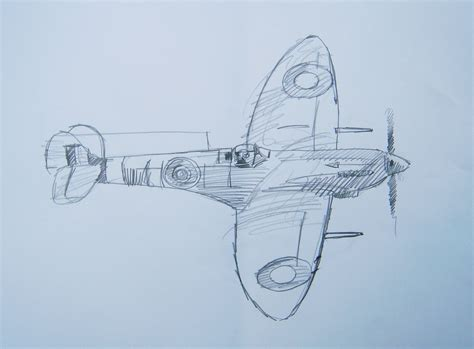 sketchbook how to draw spitfire mk22 sketch battle of britain and ww2 drawings