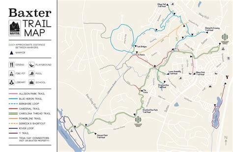 carolina thread trail map baxter trail