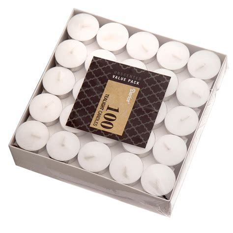 goodlight candles tea lights unscented 100 count country dreams white tea lights unscented 100 pack