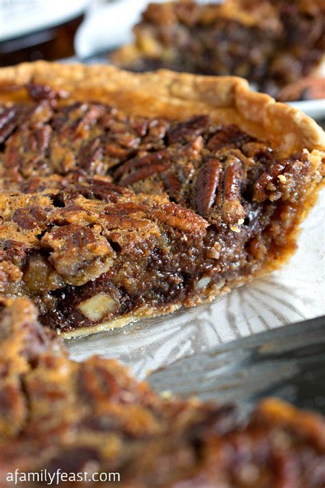 chocolate bourbon pecan pie  family feast