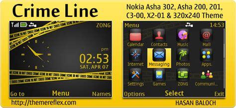 themereflex nokia asha 200 crime line theme for nokia c3 x2 01 asha 200 201 302