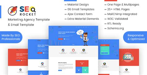 Seo Digital Marketing Agency Template Pack Agency Re Marketing Email Template Seo Rocket Email Templates For Web Designers And Developers
