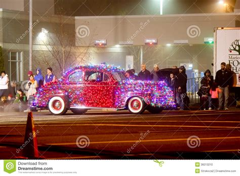 christmas lights parade in keizer oregon editorial image