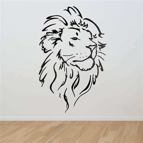 simple lion tattoo wall sticker wall sticker lions and walls