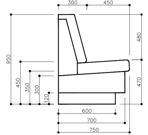 Bench Seating Construction Banquette Dimensions And Booth Dimensions