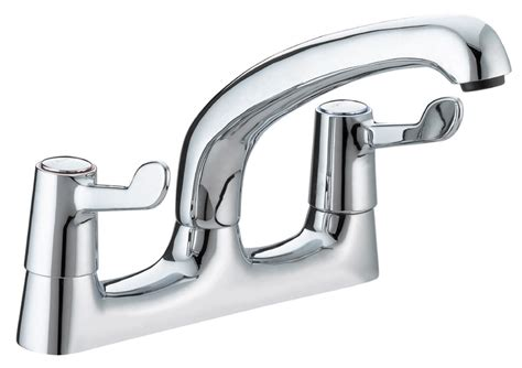 taps for kitchen sinks bristan value lever deck kitchen sink mixer tap with 152mm
