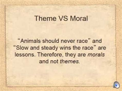 themes vs morals morals english and youtube on pinterest