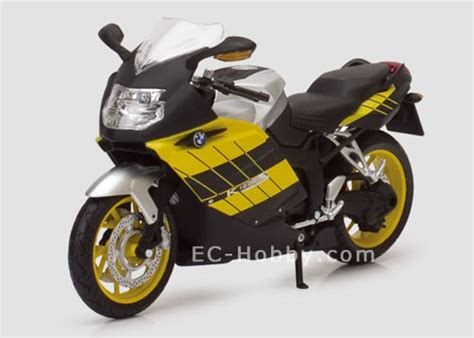 Bmw Motorcycle Yellow by 1 12 Bmw K1200s Motorcycle Diecast Model Yellow Ec