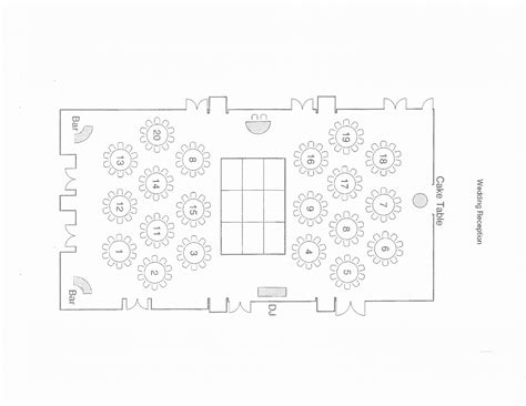 wedding floor plan template best photos of table layouts shower templates blank baby