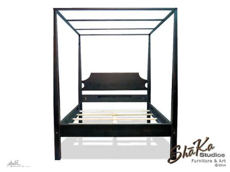 pencil post bed with canopy platform bed by tyfinefurniture till the end of july on the houston four post canopy