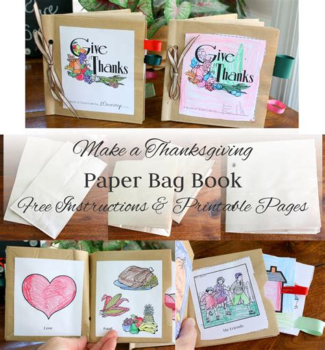 how to make picture books make a paper bag thanksgiving book and free