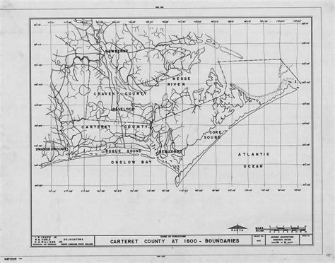 Carteret County Records 1800 Map Of Carteret County With Boundaries Historical Background Of Beaufort