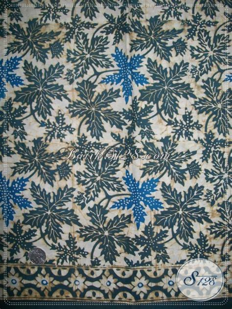 Batik Katun Motif Daun Pejabat kain batik warna alam motif daun pepaya k1138ca toko