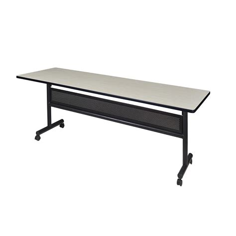flip top mobile table kobe 84 quot flip top mobile training table with modesty maple