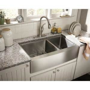 kitchen bowl sink schon farmhouse 36 quot x 21 25 quot undermount double bowl