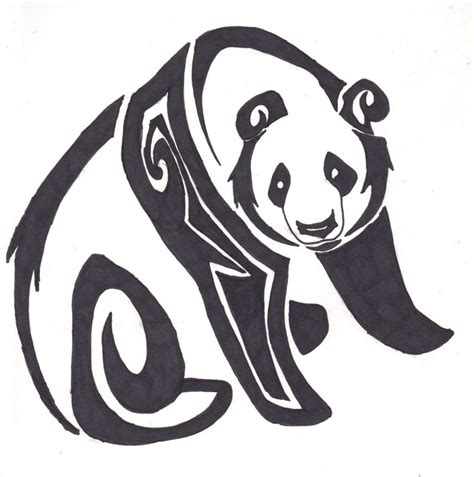 tribal panda tattoo 29 tribal panda designs and pictures