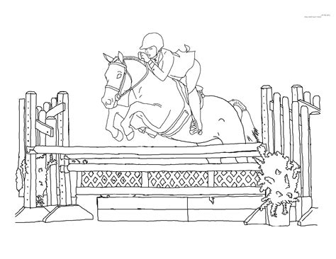 coloring pages horses jumping horse jumping coloring pages to print coloring page kids