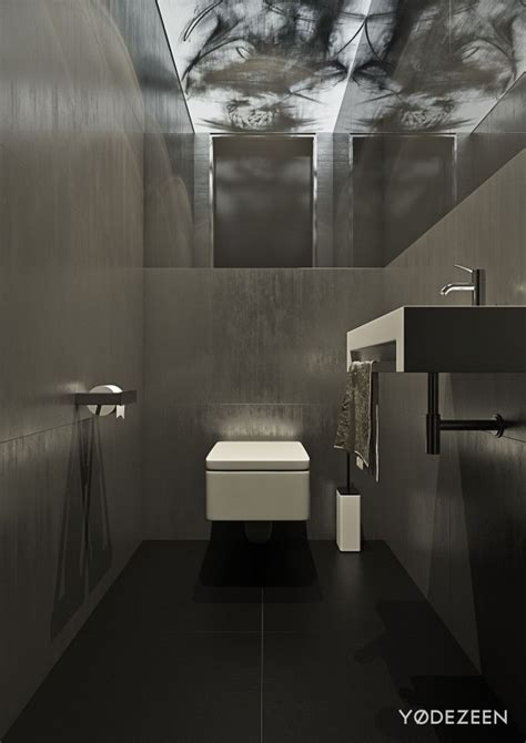 sleek bathroom design a dark and calming bachelor bad with natural wood and concrete