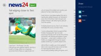 News24 app for windows in the windows store