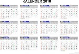 Kalender 2018 Beserta Hari Libur Excel Template Penanggalan Kalender 2018