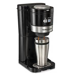 Single Cup Coffee Maker Grinder Hamilton 174 Grind And Brew Single Serve Coffee Maker