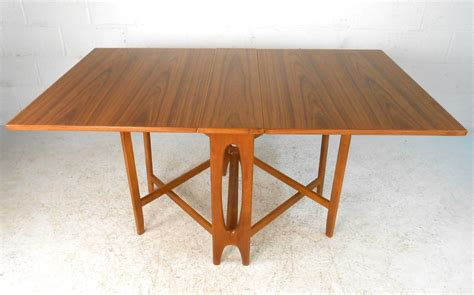 mid century modern dining table with leaves mid century modern bruno mathsson style teak drop leaf
