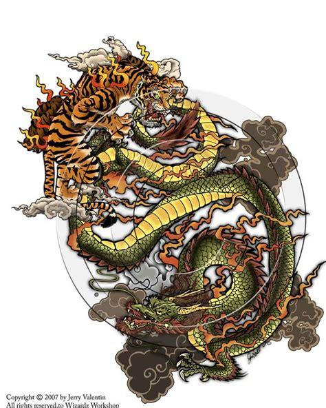 tattoo dragon vs tiger tiger vs dragon by thetruefoldedsteel on deviantart