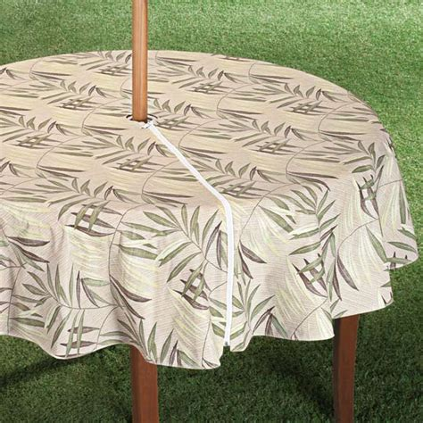 Patio Table Cover With Umbrella Zipper Patio Table Cover With Zipper Fern Design Walter